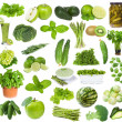 Set with green food — Stock Photo