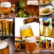 Beer collage - Stock Photo