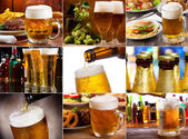Bier collage — Stockfoto