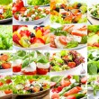 Stock Photo: Collage with salad
