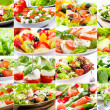 Royalty-Free Stock Photo: Collage with salad