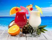 Cocktails tropicais — Foto Stock