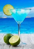Blue Curacao cocktail — Stock Photo