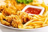 炸鸡 — 图库照片