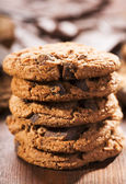 Cookies with chocolate — Stock Photo