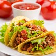 Plate with taco — Stock Photo #19671431