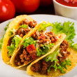 Plate with taco — Stock Photo #19671441