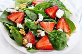 Salad with strawberry — Stock Photo