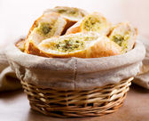 Bread with herbs — Stock Photo