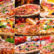 collage di pizza — Foto Stock