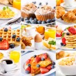 Breakfast collage — Stock Photo