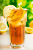 Glass of ice tea — Stock Photo