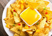 Nachos with cheese — Stock Photo