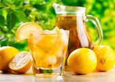 Glass of ice tea — Stock Photo