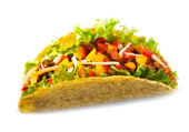 Taco with meat vegetables — Foto de Stock