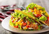 Plate of taco — Stock Photo