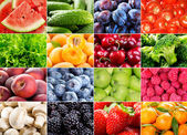 Various fruits, berries, herbs and vegetables — Stock Photo