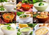 Various soups — Stock Photo