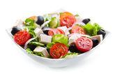 碗的希腊沙拉 — 图库照片