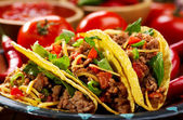 Plate of tacos — Stock Photo