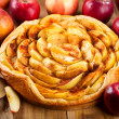 Apple pie with fresh fruits — Stock Photo