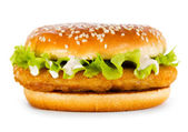 Burger with chicken — Stock Photo