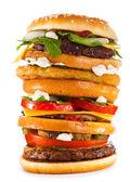 Big hamburger — Stock Photo