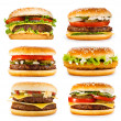 Stock Photo: Set of various hamburgers