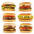 Set of various hamburgers — Stock Photo #36161277