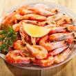 Plate of shrimps — Stockfoto