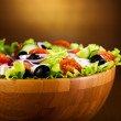 Bowl of greek salad — Stock Photo