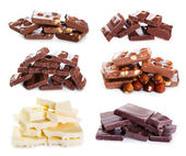 Set of various chocolate — Stock fotografie