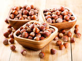 Bowl of hazelnuts — Foto de Stock