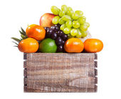 Fresh fruits in a box — Stock Photo