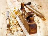 Staré dřevěné letadlo — Stock fotografie