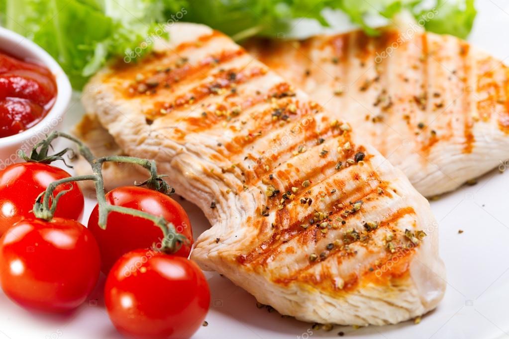 Izgara Tavuk Göğsü Sebzeli Izgara Tavuk Göğsü