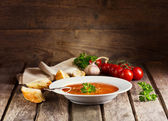Plate of Minestrone Soup — Stock Photo