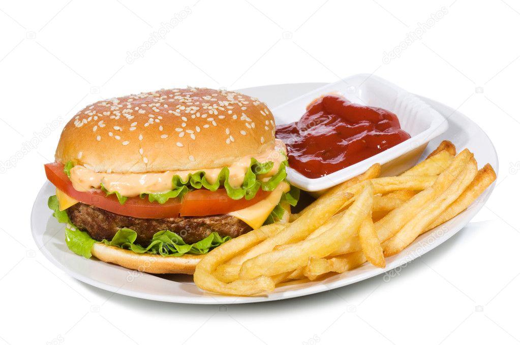 hamburger and fries wallpaper - photo #13