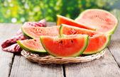 Slices of watermelon — Stock Photo