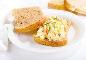 鸡蛋沙拉三明治 — 图库照片