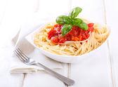 Pasta con salsa de tomate — Foto de Stock