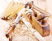 Avião de madeira velha — Foto Stock