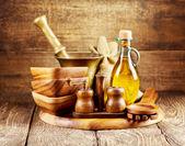 Utensílios de cozinha de madeira — Foto Stock