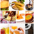 Food collage — Foto de Stock