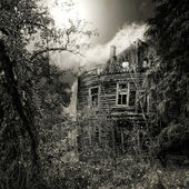 Night spooky house — Stock Photo
