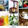 Drinks collage — Stock Photo