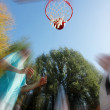 Blurred street ball - Stock Photo