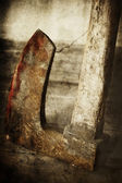 Blod axe — Stock Photo