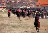 Gypsy horse riding games — Stock Photo