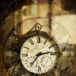 Stock Photo: Clock vintage abstract
